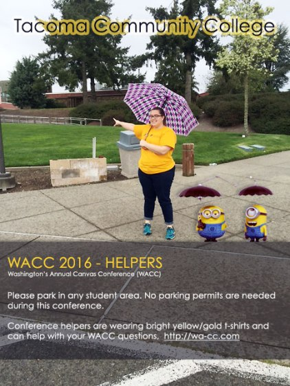 WACC2016 Helpers directing attendee to conference and workshop buildings
